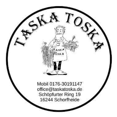 Logo Foodtruck Taska Toska on Road