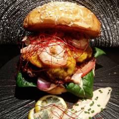 Gourmet Burger & Grilled Cheese Sandwich