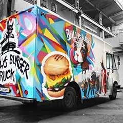 Logo - Bullys Burger Truck - Schmackhaftes Charolais Beef mit herzhaftem Käse und frischem Gemüse, eingepackt in fluffige und nach eigener Rezeptur gebackene Brötchen.