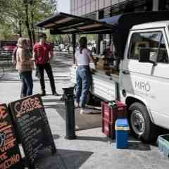 Logo - Miró Coffee Truck - Two brothers and one passion. Source, roast, brew the selected coffee beans. Find us driving around in Zurich in our coffee truck.