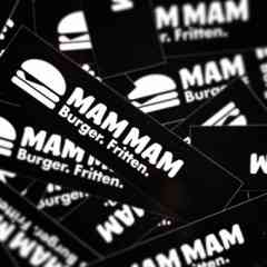 MAM MAM Burger & Fritten - sticker