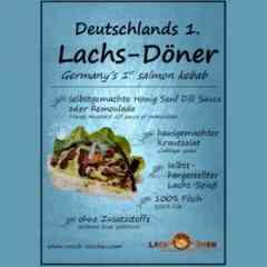 Logo - Lachs-Döner by Rauch-Zeichen - Lachs-Döner und Lachs-Wrap mit Honig Senf Dill Sauce, krossem Lachs vom Spieß & Krautsalat, alles selbsthergestellt. 2015 mit Seafood Star ausgezeichnet.