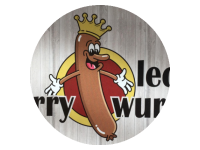 Logo Lecker Currywurst - Currywurst, Hot Dog, Pommes, Bratwurst