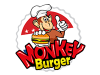 Logo MonkeyBurger - Burger, BBQ u. Fries