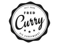 Logo Fred Curry - Currywurst,- Bratwurst,- Pommes Frites