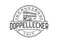 Logo Foodtruck Doppellecker Genussbus