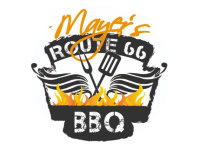 Logo Mayer´s Route 66 BBQ Smoker - Burger, Ribs, Pulled Pork & more