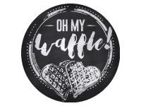 Logo Foodtruck Oh My Waffle!