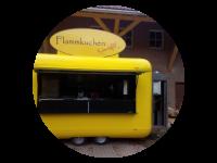 Logo mobile Flammkuchenbäckerei Schmackofatz - Flammkuchen, Salate,Kaffeespezialitäten