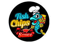 Logo Foodtruck Fish Chips Sauce