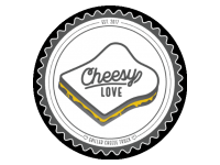 Logo Cheesy Love Food Truck - Grilled Cheese Sandwiches