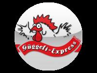 Logo Güggeli Express GmbH - Güggeli, Pouletschenkel, Schweinshaxen