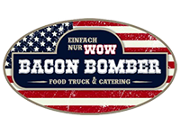 Logo Bacon Bomber Food Truck/Catering - Pulled Pork/Beef/Turkey- vers.-Rib´s