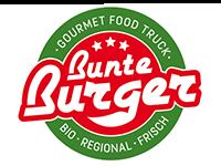 Logo Foodtruck Bunte Burger Gourmet Food Truck