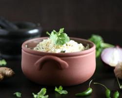 أرز مع زنجبيل أو ثوم