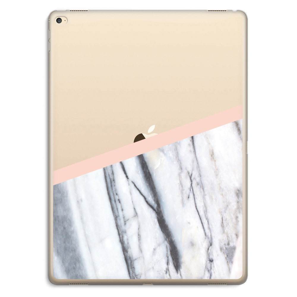 iPad Pro 12,9 inch Transparant Hoesje (Soft) A touch of peach