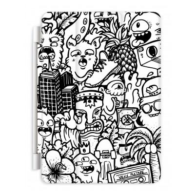 Doodle Art Vexx Black And White - Journeyman Coloring