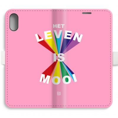 Iphone Xr Full Print Flip Case Het Leven Is Mooi