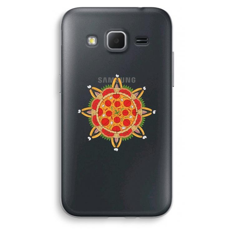 Transparente Samsung Galaxy Core Prime - Pizza Mandala