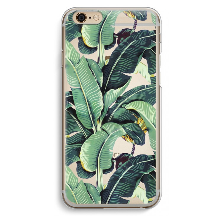 iPhone 6 / 6S Transparent Case - Banana leaves