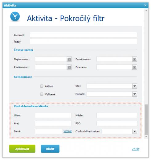 Lehčí plánování schůzek - filtrování pomocí adresy