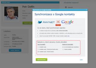 Synchronizace s Google kontakty
