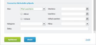 Pokročilý filtr Klientů