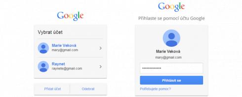 Přihlášení do účtu Google
