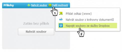 Propojení s Dropboxem