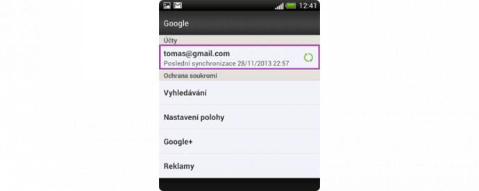 Výběr e-mailové adresy