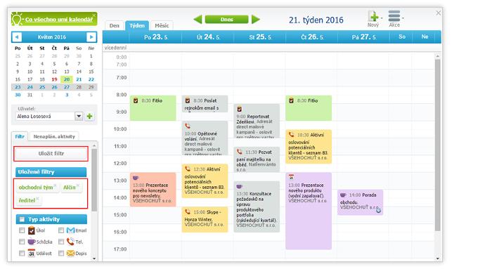 Rychlejší orientace v Kalendáři