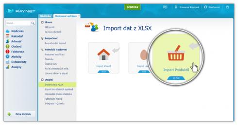 Import Produktů