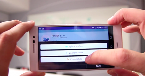 Mobilní aplikace - budeme fotit