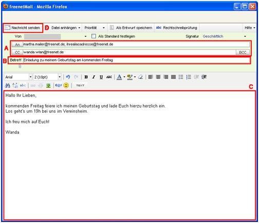 E-mail schreiben zum kennenlernen
