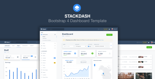 Admin Dashboard Themes & Applications using Bootsrap & Rails