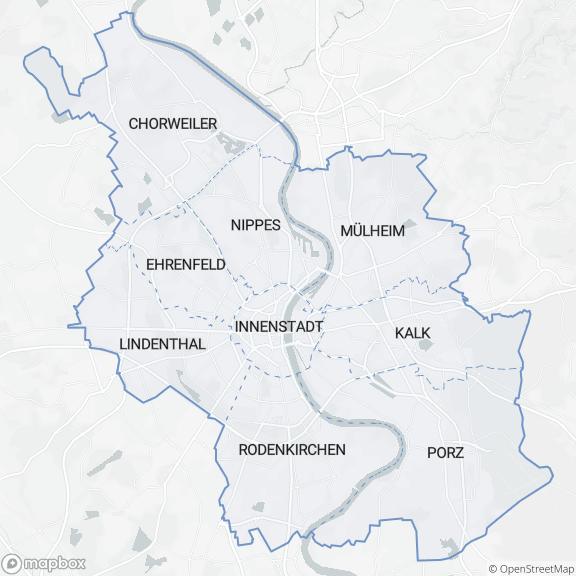 Kartenausschnitt des Dienstleistungsbereiches