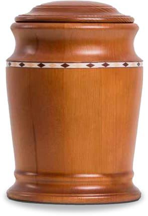 Kirschbaumfarbige FriedWald-Urne aus Kiefer