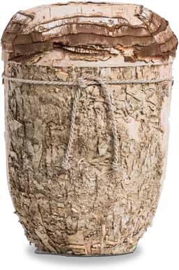 """FriedWald-Urne Birkenrinde in """"Baum-Optik"""" - Birkenrinde in Handarbeit aufgebracht"""