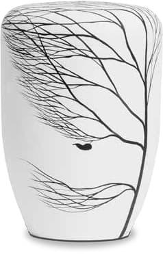 Handbemalte FriedWald-Urne auf Arboform-Basis (Flüssigholz)