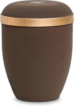 FriedWald-Urne aus Naturstoff im Samtton Café