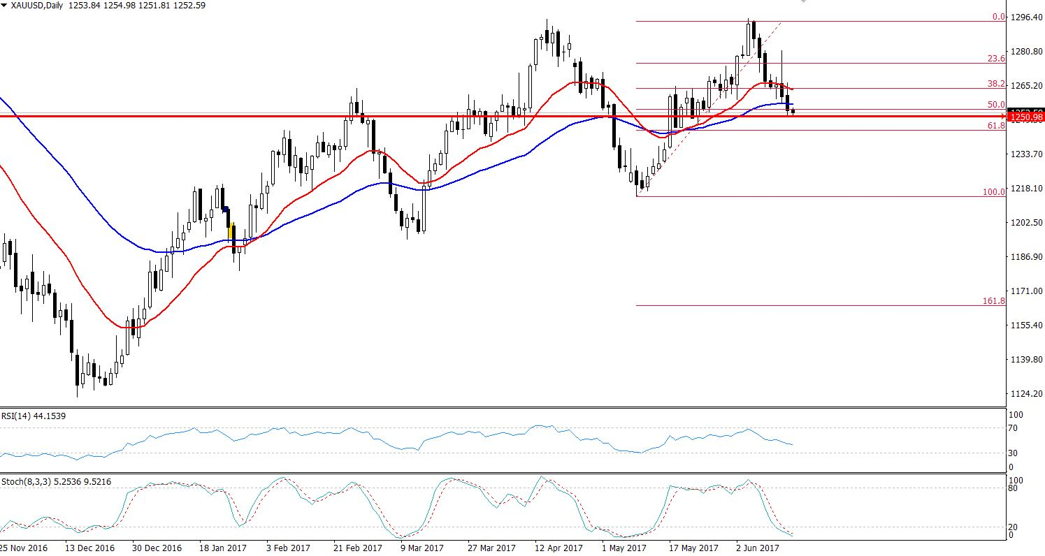 Gold - Daily Chart -50% Retracement