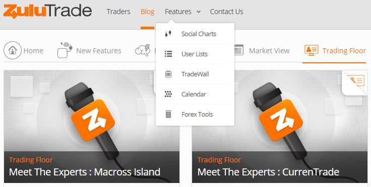 Choosing the Best Social Trading Platform 2 (Zulutrade features screenshot)