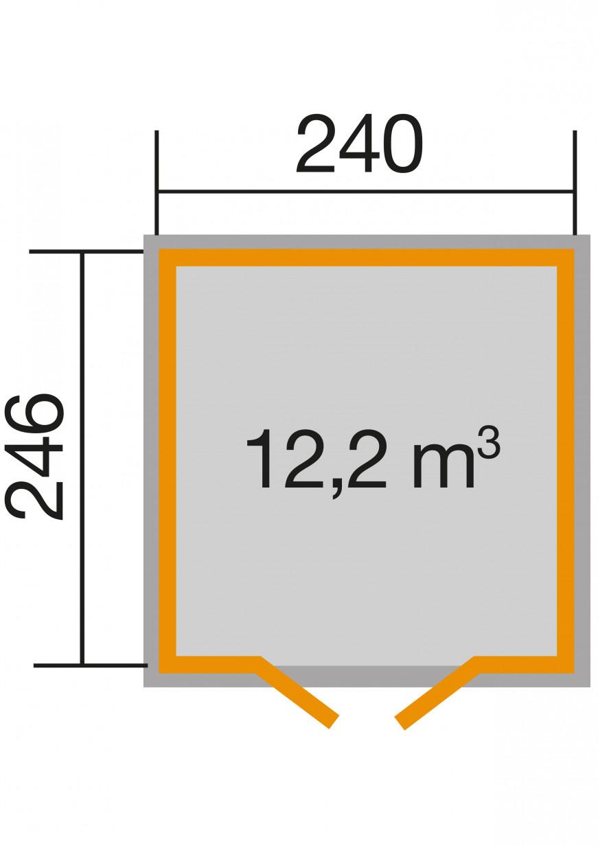 Skyvedørsbod Lindau | Antrasitt | 6m² - Gardia.com