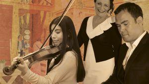 Trio Kati Huvi, Krister Ojanen ja Maria VasquezGraw