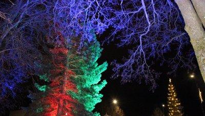 Iloa valosta -valoinstallaatio Paltanmäen ulkoliikuntapaikoilla