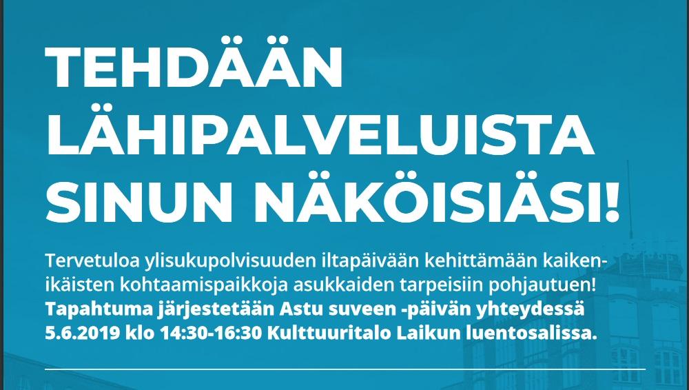 Asukastilaisuus Tampereen kaupungin lähipalveluista