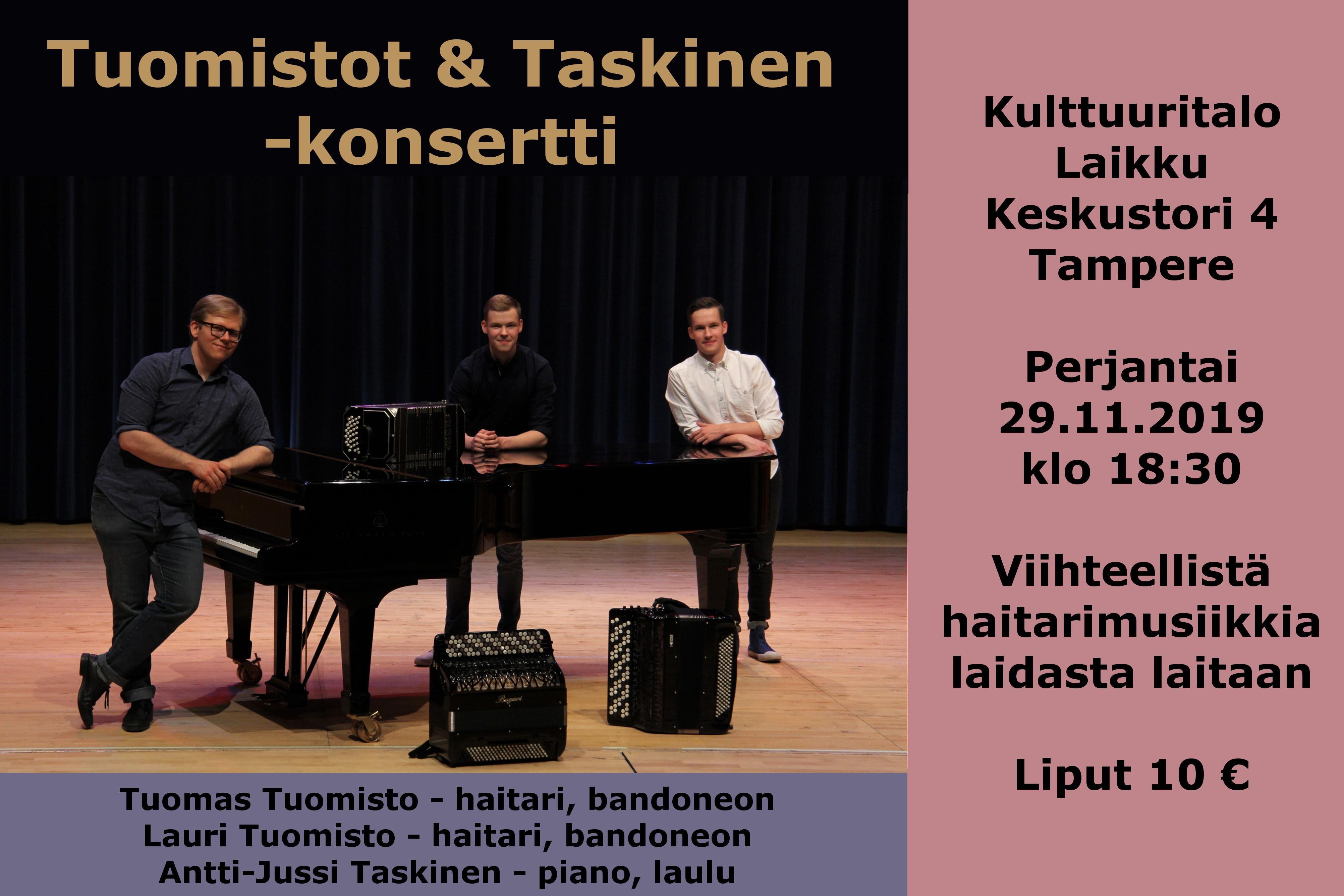Tuomistot & Taskinen -konsertti