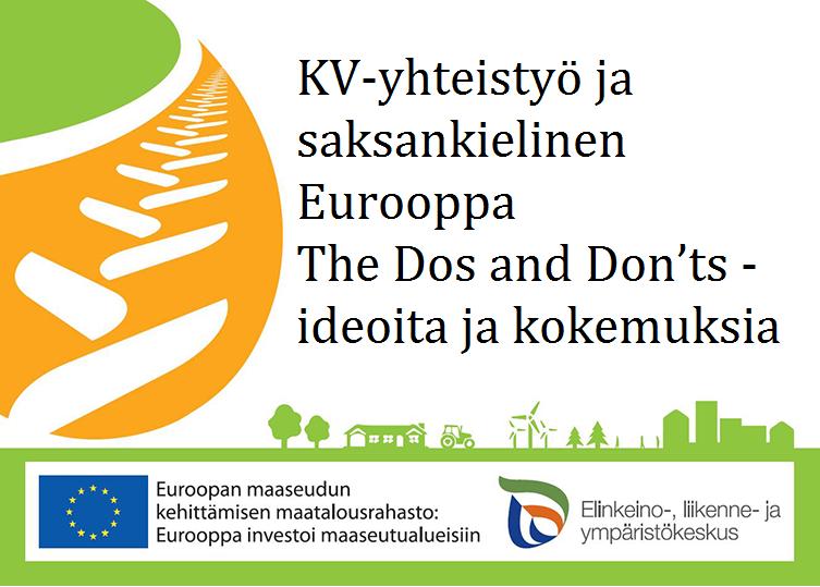 KV-yhteistyö ja saksankielinen Eurooppa The Dos and Don'ts - ideoita ja kokemuksia