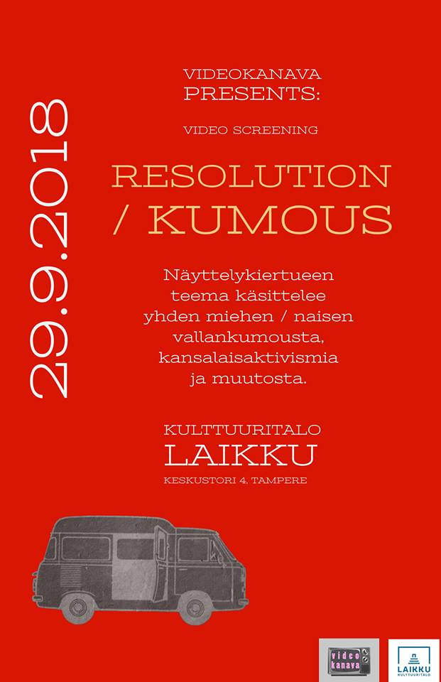 Videokanava Presents: Resolution / Kumous -videoscreening