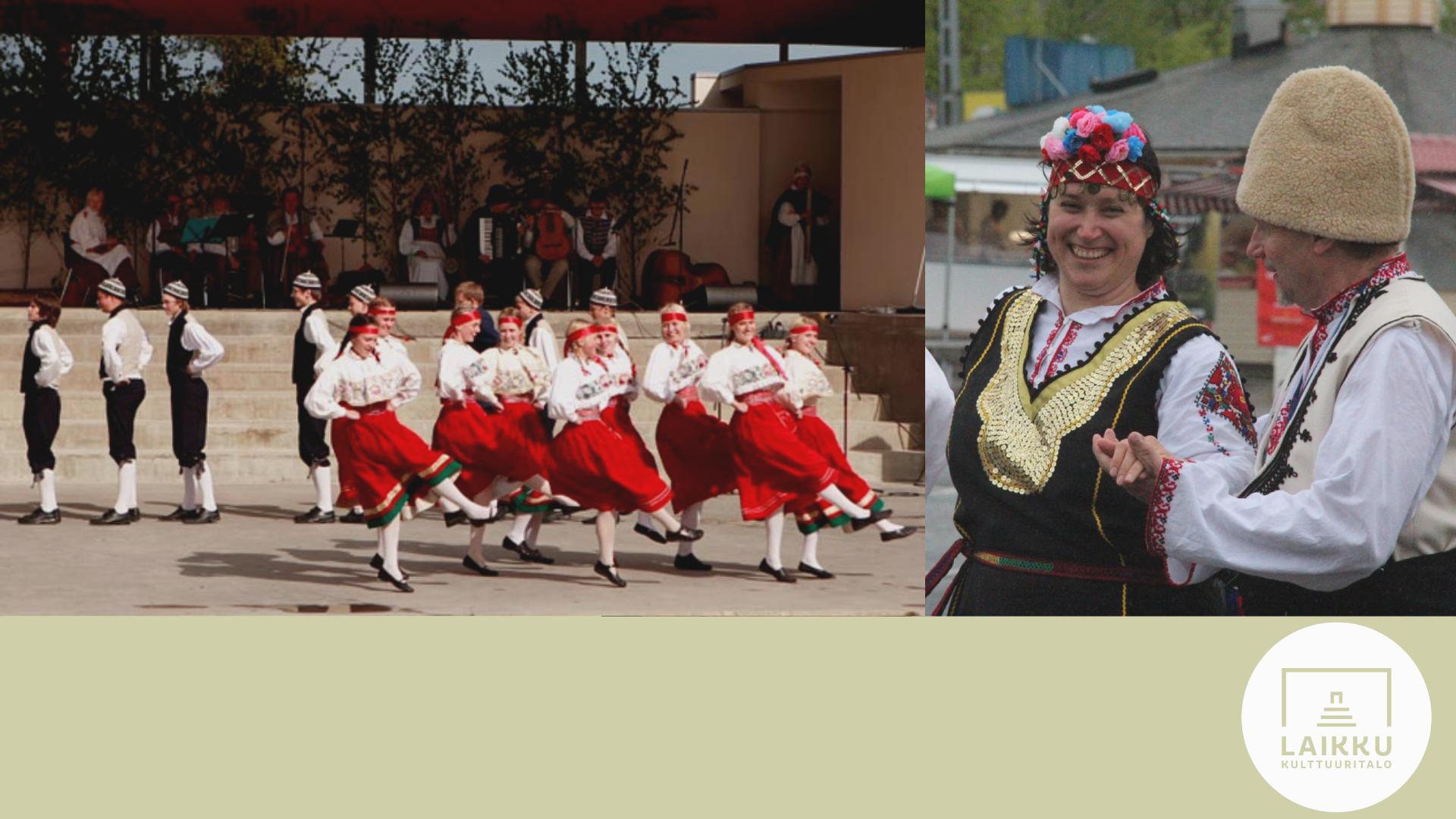 Eurooppa-päivän tanssitapahtuma Laikun edustalla